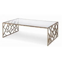 Lattice Bronze Cocktail Table