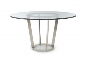 Paragon Club Fair Park Metal Base Dining Table With Glass Top