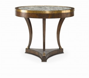 Chateau Lyon Croix-Rousse Table With Lazy Susan Stone Top