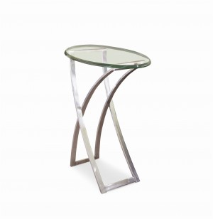 Omni Chairside Table With Glass Top