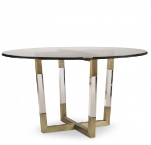 Metal/Acrylic Dining Table Base For Glass Top