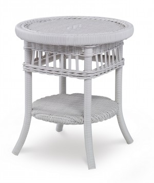 Mainland Wicker Side Table W/ Tempered Glass