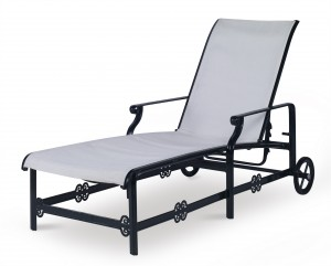 Augustine Metal Articulating Sling Chaise