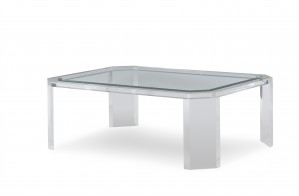 Phoenix Coffee Table With Tempered Glass Top