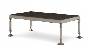 Heritage Coffee Table With Marble Top