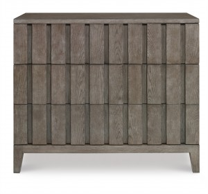 Casa Bella Louvered Drawer Chest - Timber Gray Finish