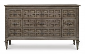 Casa Bella Burl Dresser - Timber Gray Finish
