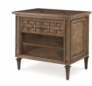 Casa Bella One Drawer Nightstand - Timber Gray Finish