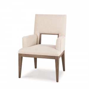 Casa Bella Upholstered Dining Arm Chair - Timber Gray Finish