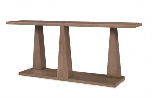 Casa Bella Column Console Table - Timber Gray Finish