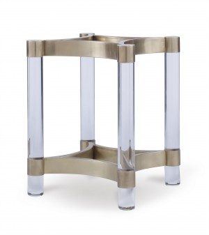 Acrylic & Metal Dining Table Base For Glass Top