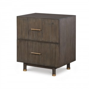 Biscayne 2 Drawer Nightstand-Mink Grey