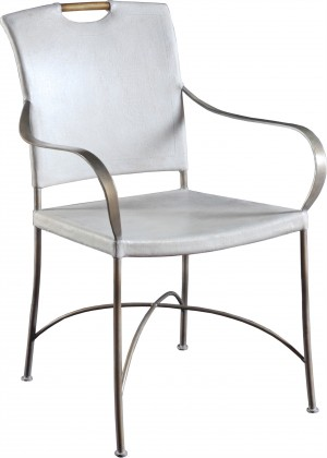 Canvas & Iron Arm Chair-Ivory