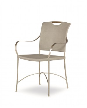 Canvas Arm Chair-Dove Grey
