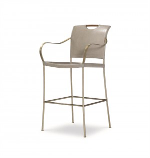 Canvas Bar Stool-Dove Grey (Cv-040-411, C411-040)