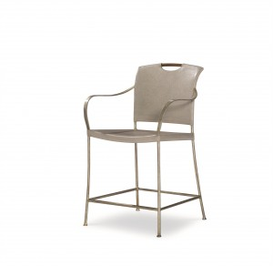 Canvas Counter Stool-Dove Grey