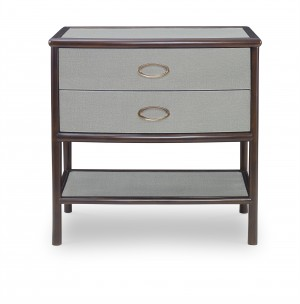 Canvas Nightstand-Dove Grey