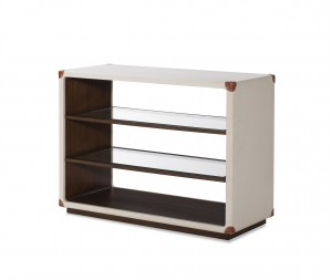 Canvas Open Bookcase-Ivory