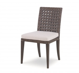 Litchfield Side Chair-Mink Grey/Flax