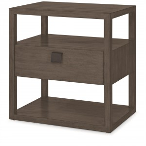 New Haven One Drawer Nightstand-Mink Grey
