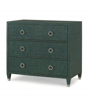 Charleston 3 Drawer Chest-Aqua