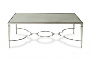 Aurora Cocktail Table With Antique Mirror Top