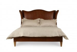 Hannah Leather Wing Bed - Queen Size 5/0