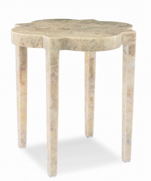 Medallion Stone Side Table