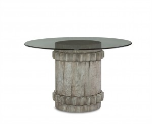 Cog Dining Table With Tempered Glass Top